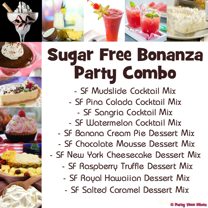 Sugar Free Bonanza Party Combo Pack